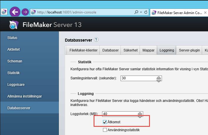 LinnéFiler - Server logs